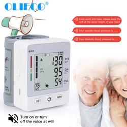 Digital Wrist Blood Pressure Monitor Tonometer USB Rechargeable Household Medical Pulse Heart Beat Meter Mini Sphygmomanometer