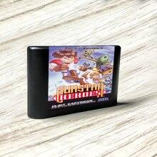 وحدة تحكم ألعاب الفيديو Gunstar Heroes   EUR ، ملصقات ، MD ، ذهبي ، PCB ، بطاقة Sega Genesis ، Megadrive