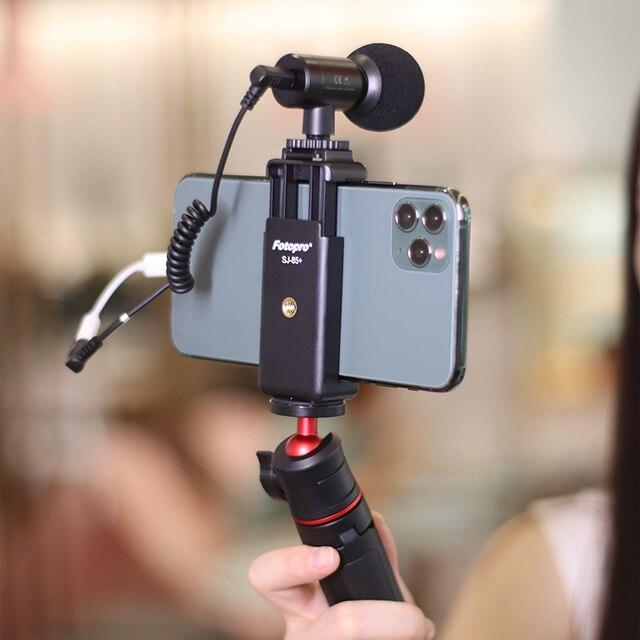 Sairen nano mic portable mini record trs ttrs microphone for gopro 8 7 6 5 sony a6400 a6300 slr camera smartphone vlog mic