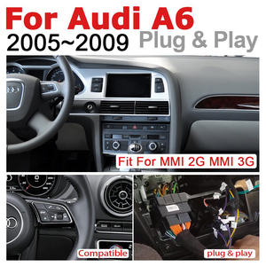Image 4 - Car Radio 2 din GPS Android Navigation For Audi A6 4F 2005~2009 MMI AUX Stereo multimedia touch screen original style radio
