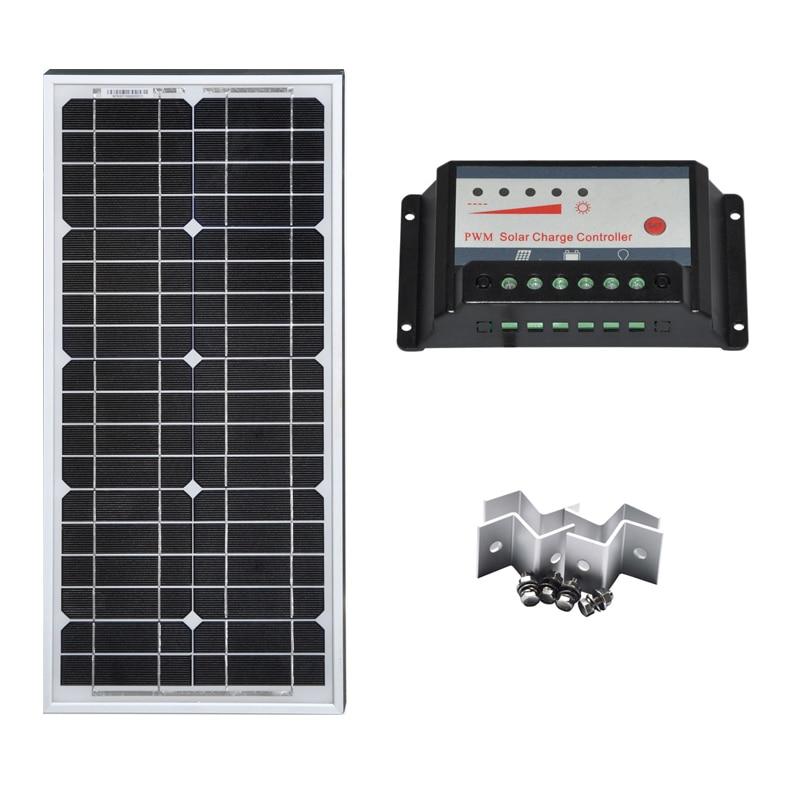 Солнечная панель полный комплект 20 Вт 40 60 Солнечный Контроллер