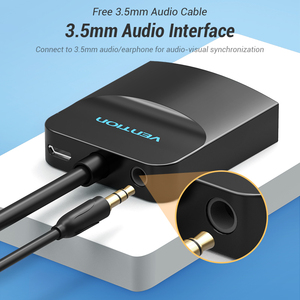 Image 2 - Vention HDMI to VGA Adapter HDMI Male to VGA Female 1080P Digital to Analog Video Audio for Laptop Tablet HDMI to VGA Converter