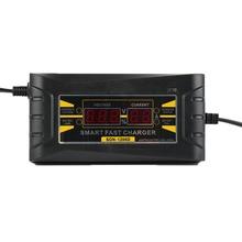 Полностью автоматическое зарядное устройство для автомобильных аккумуляторов ЕС 110 В до 240 В до 12 В 6А Интеллектуальное Быстрое зарядное устройство для влажной сухой свинцово-кислотной цифровой ЖК-дисплей