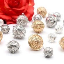 10 шт., полые рождественские колокольчики, металлические колокольчики, Рождественская елка, украшение для семьи, рождественские фенечки, колокольчики, художественное ремесло