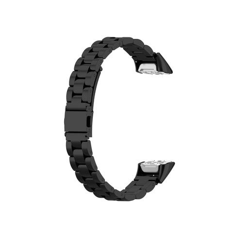 Medium Size Unisex for Samsung Galaxy Fit SM-R370 Watchband Smart Watch Three Beads Stainless Steel Strap Smartwatch Accessories Karachi
