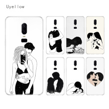 Uyellow Sketch Couple Trend Case For One Plus 7 Pro 6 6T 5 5T Fashion Fundas Printed Cover Silicone Soft Luxury Phone Coque