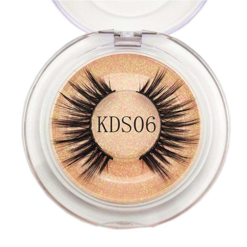 Buzzme KDS06 3D Faux Mink Lashes Natural False Eyelashes Long Makeup Eyelash