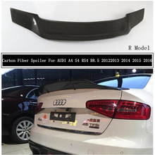 Carbon Fiber Spoiler For AUDI A4 S4 RS4 B8.5 2013 2014 2015 2016 Wing Lip Spoilers High Quality R Car Accessories