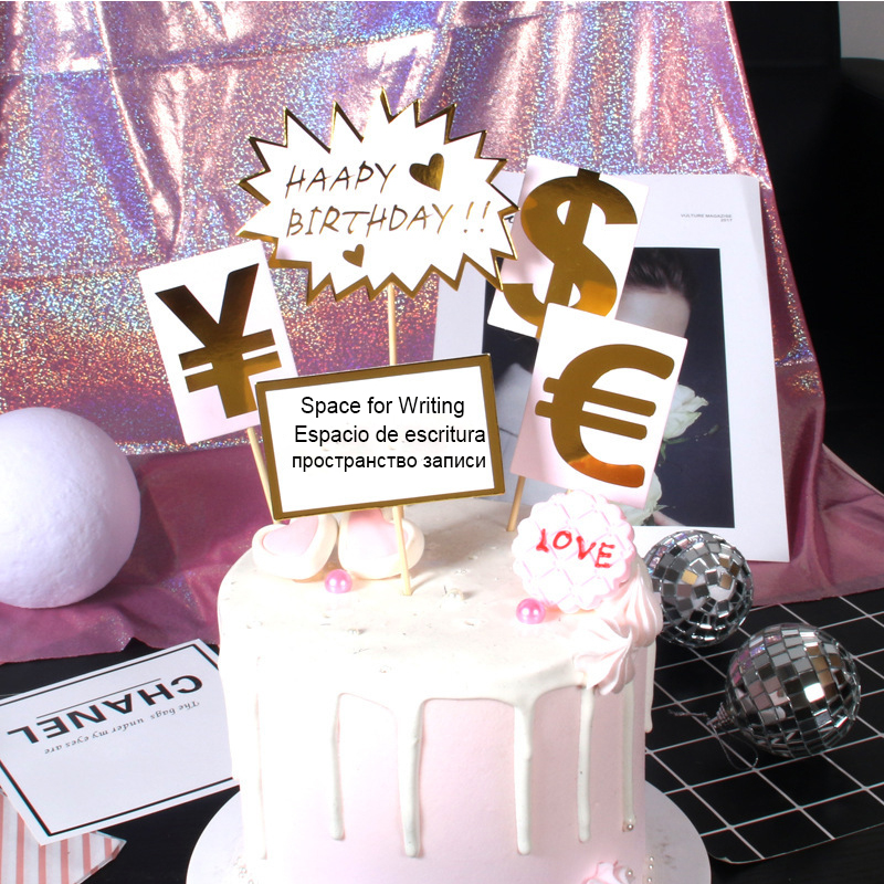 Image 3 - 5pcs Rich Dream Money Car Theme Cake Topper Adult Happy Birthday Birthday Party Supplies Cake Decorating  Wedding Cake Topper-in Cake Decorating Supplies from Home & Garden