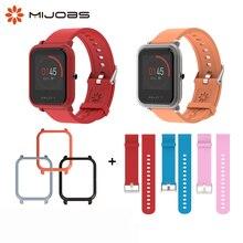 Bilek kayışı Amazfit Bip GTS bilezik 20mm Watch Band bileklik Xiaomi Huami Amazfit Bip için kılıf koruyun amazfit Bip S