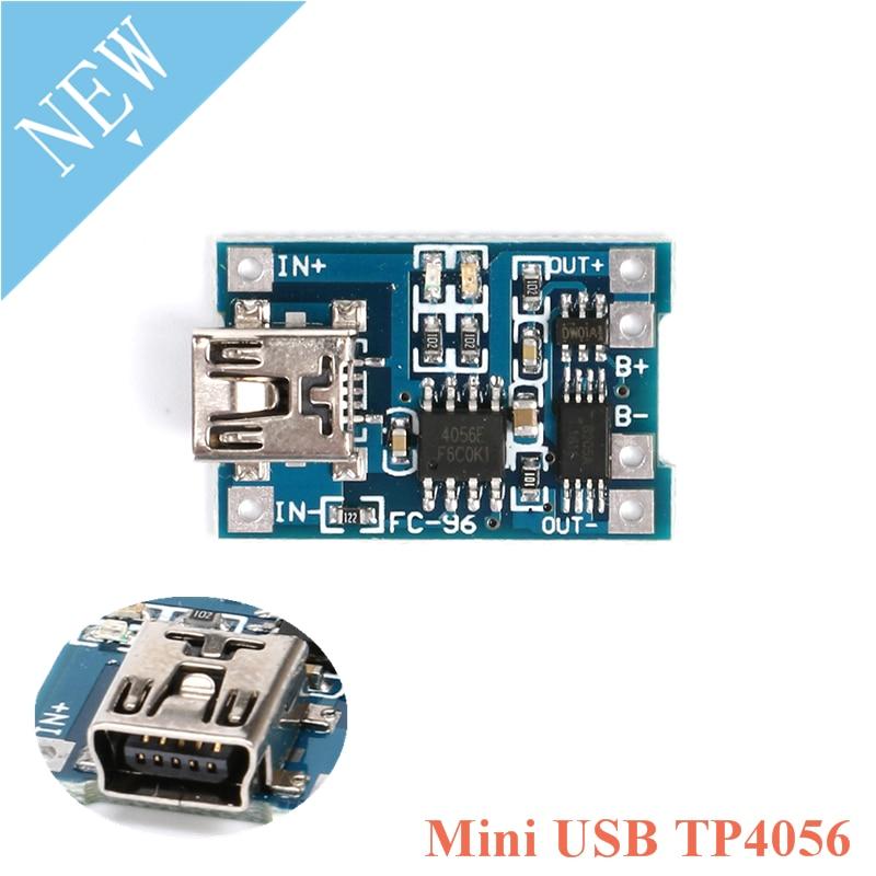 Li-Ion TP4056 5V 1A Lithium Battery Charger Module USB Mini-B or Micro-B LiPo