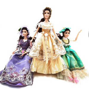 30cm 1/6 Princess Doll with Vintage Clothes Style Women Dress up Baby Dolls 11 Joint Moveable Body(China)