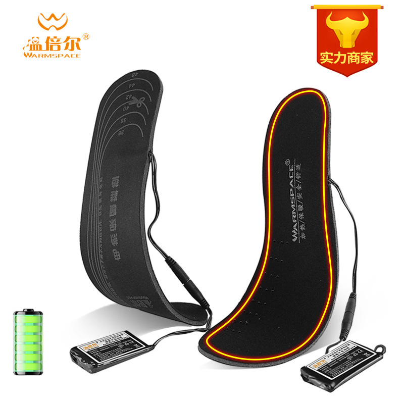 Rechargeable Heated Insoles Warm Usb Charge Battery Warmer Winter Heating Insoles Thermal Electric Foot Shoes Pad