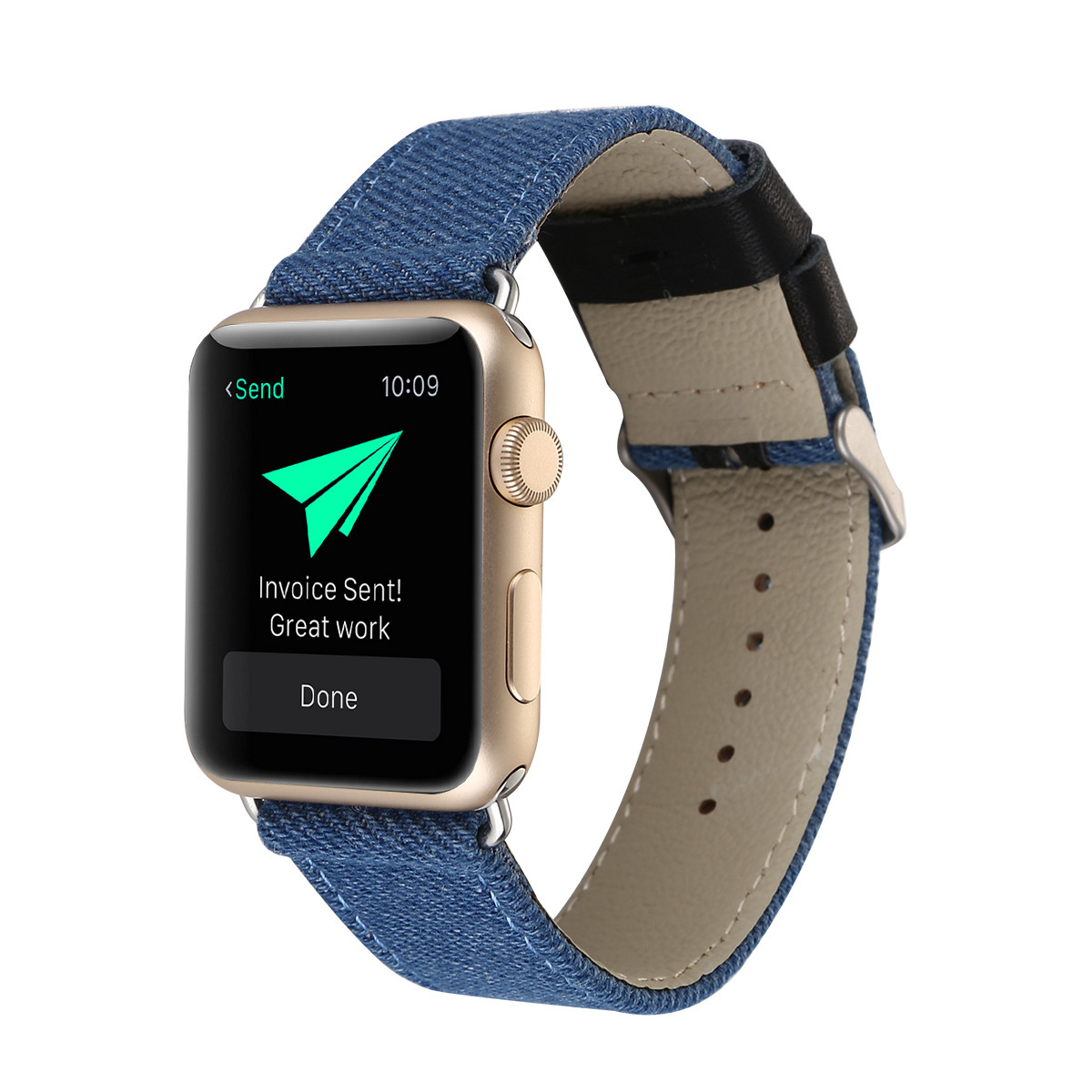Suitable For Apple Watch IWatch Cowboy Linen Finish Watch Strap APPLE Watch1234 Leather Watch Strap