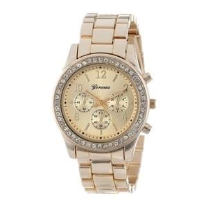 Image 4 - 2019 新ジュネーブ古典豪華なラインストーン腕時計女性腕時計ファッション女性の時計リロイmujerレロジオfeminino Q09