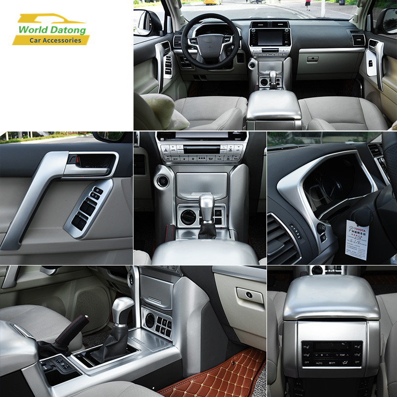 For <font><b>Toyota</b></font> Land Cruiser <font><b>Prado</b></font> LC150 FJ150 2018 <font><b>2019</b></font> ABS CHROM Interior Decoration <font><b>Accessories</b></font> image