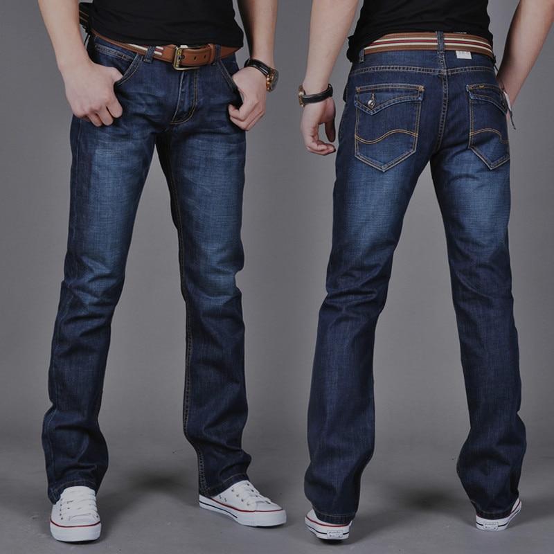 2020 New Men Straight Slim Jeans, Popular Medium Waist Fashion Men's Long Pants
