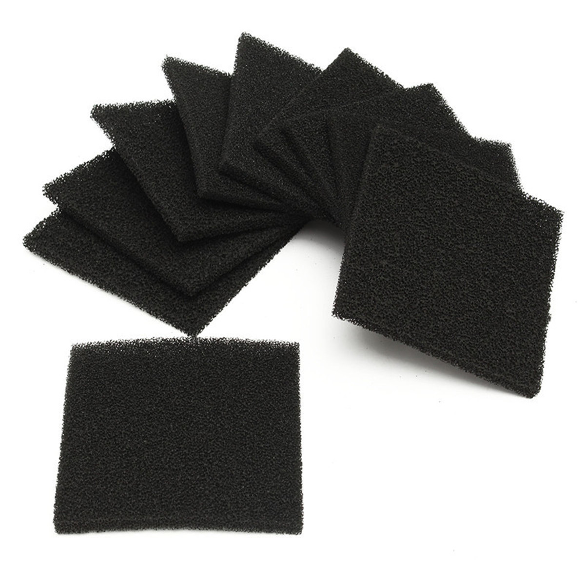 10Pcs Activated Carbon Filter Sponge For 493 Soldering Smoke Absorber ESD Fume Extractor Solder Iron Welding Tool Kits 128x128mm