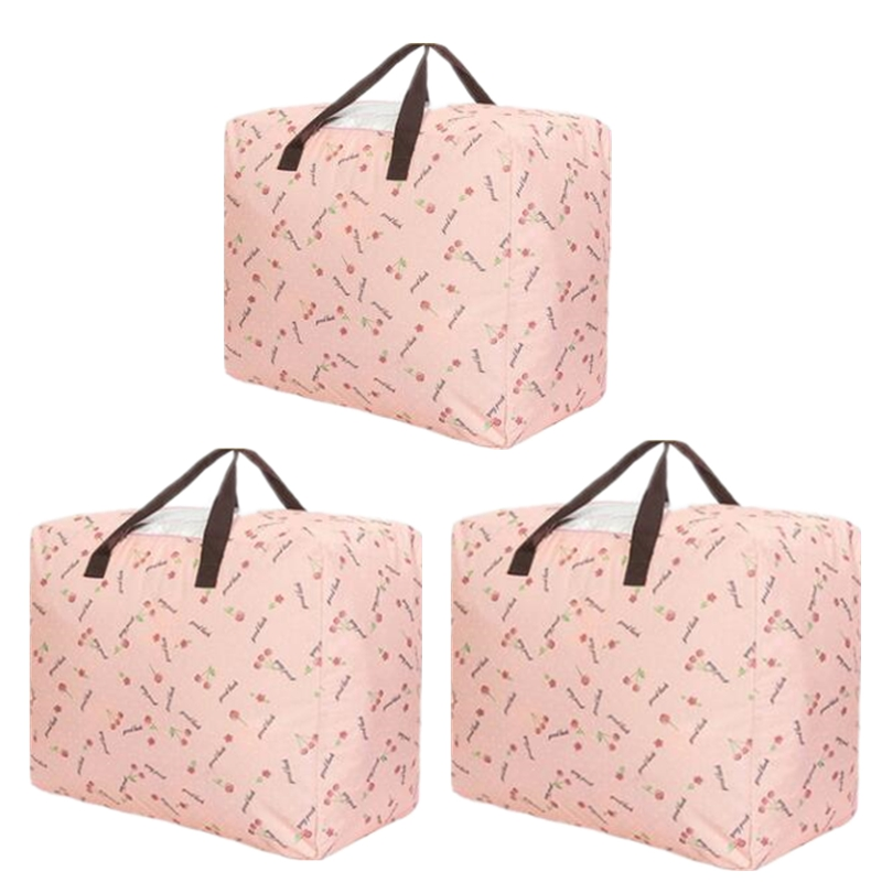 Under Bed Storage Bag Foldable Large Capacity For Comforters Blankets Bedding Duvets Clothes Sweaters,Quilt Storage Bag Strap,3