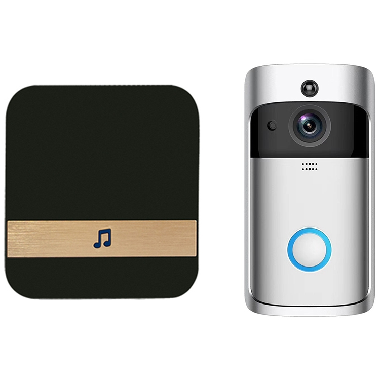 AMS-Smart Wifi Security Door With Visual Recording Low Power Remote Home Monitoring Night Can Also Be Video Door Phone Eu Plug