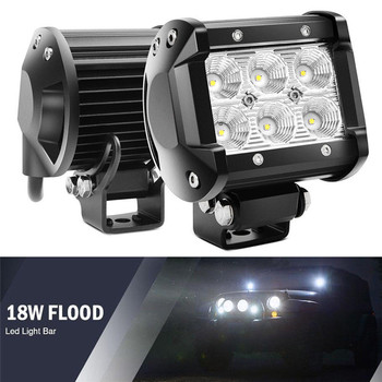 18W LED Work Light 4WD Offroad Spot Fog ATV SUV UTE Driving Lamp For Jeep image