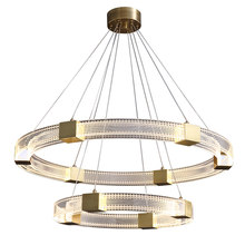 All-Copper Post-Modern Simple Living Room Chandelier Light Luxury Led Restaurant Bedroom Designer Net Red Lamps