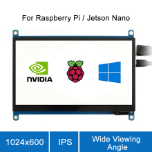 цена на Raspberry Pi 4B 7 inch touch screen raspberry 1024x600 IPS Capacitive LCD Touch Screen Supports Various Systems Multi Mini-PCs