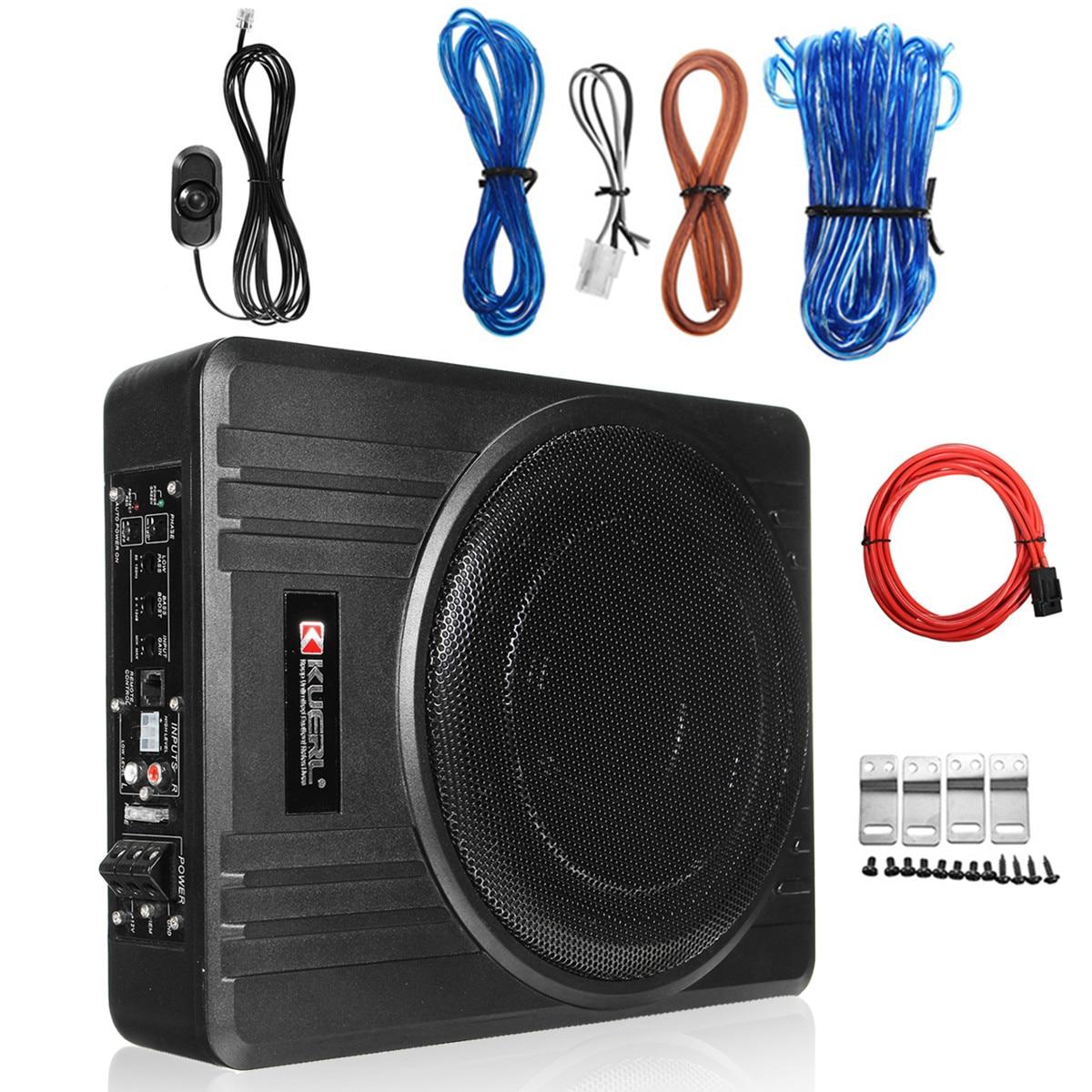 600W 10 pouces amplificateur de voiture Subwoofer Audio de voiture mince sous le siège caisson de basses actif haut-parleur de graves de voiture