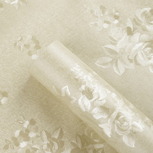 Classic Peony Rose Flower Floral Wall Paper Rolls PVC Self Adhesive Wal