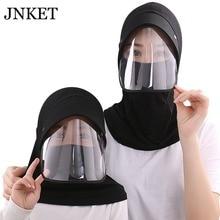 JNKET New Parent-child Visors Cap Full Face UV Protection Hat Cycling Sun Women Sunscreen Hats Foldable Sunbonnet Summer