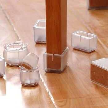 כיסוי סיליקון לרגלי כסא ושולחן למניעת החלקה וגרירה שקטה- 8 יחידות 1