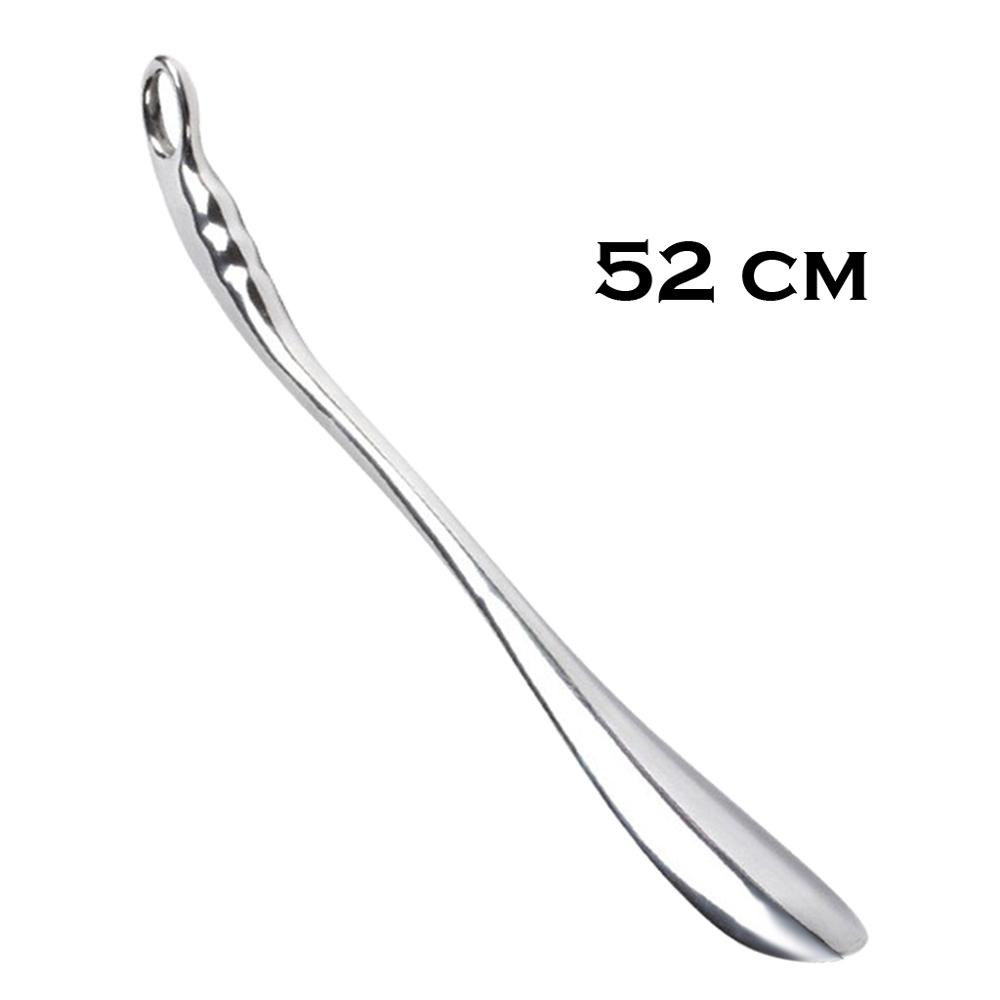 52cm Professional Metal Alloy Women Kids Seniors Shoe Horn Long Practical Professional Metal Silver Color Shoe Horn Lifter