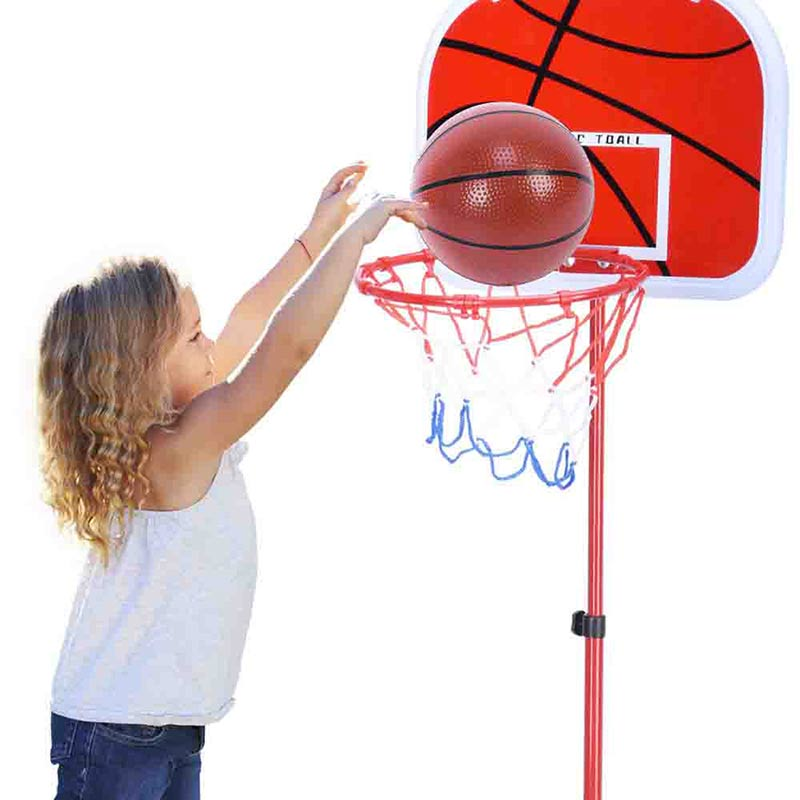 Купить с кэшбэком Children Basketball Stands Boy Toy  Removable Stand Can Lift Indoor Shooting Frame Portable Height Basketball Hoop Game Play Set