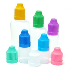 10pcs Empty Plastic Eye Drop Bottle 3ml 5ml 10ml 15ml 20ml 30ml 50ml 100ml 120ml PE Essential Oil Dropper Bottle With Funnel