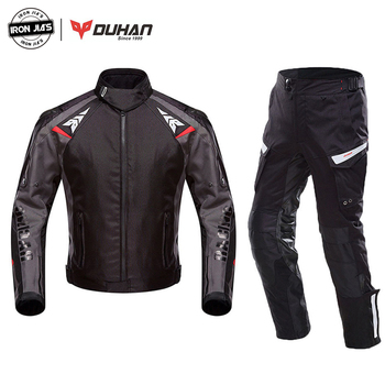 DUHAN Motorcycle Jacket Suit Moto Autumn Winter Waterproof Cold-proof Biker Jacket Men Motorbike Riding Clothing Protective Gear