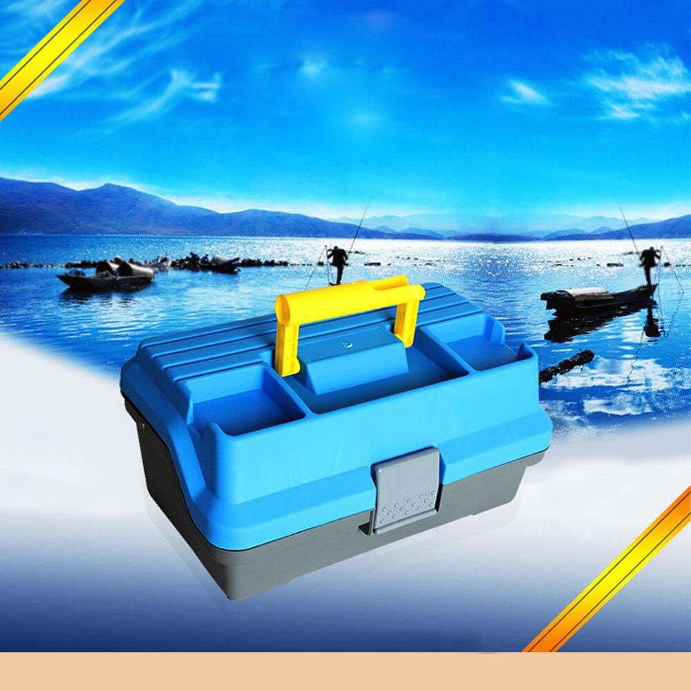 Fishing Box 32*16*15cm 3 Layer Big Fishing Tackle Box Fishing Lures Storage Plastic Handle Carp Fishing Bait Accessories Pesca|Fishing Tackle Boxes|   - title=