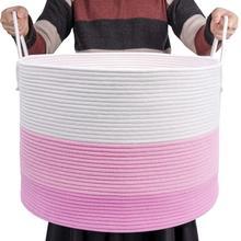 laundry hamper ins green cotton dirty  clothing debris thickening storage bag toy basket