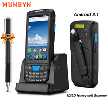 Munbyn Handheld Pda Android 8.1 Robuuste Pos Terminal 1D 2D Barcode Scanner Wifi 4G Bluetooth Gps Pda Bar Codes reader