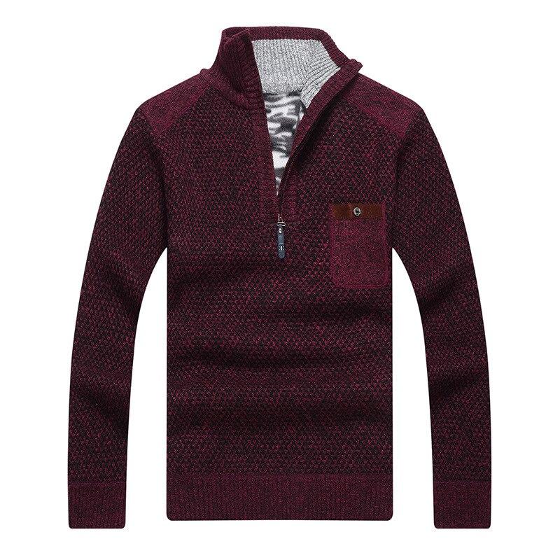 2019 Autumn Winter Men Set Head Sweater Coat Faux Fur Wool Sweater Jackets Men Zipper Knitted Thick Casual Knitwear S-3XL