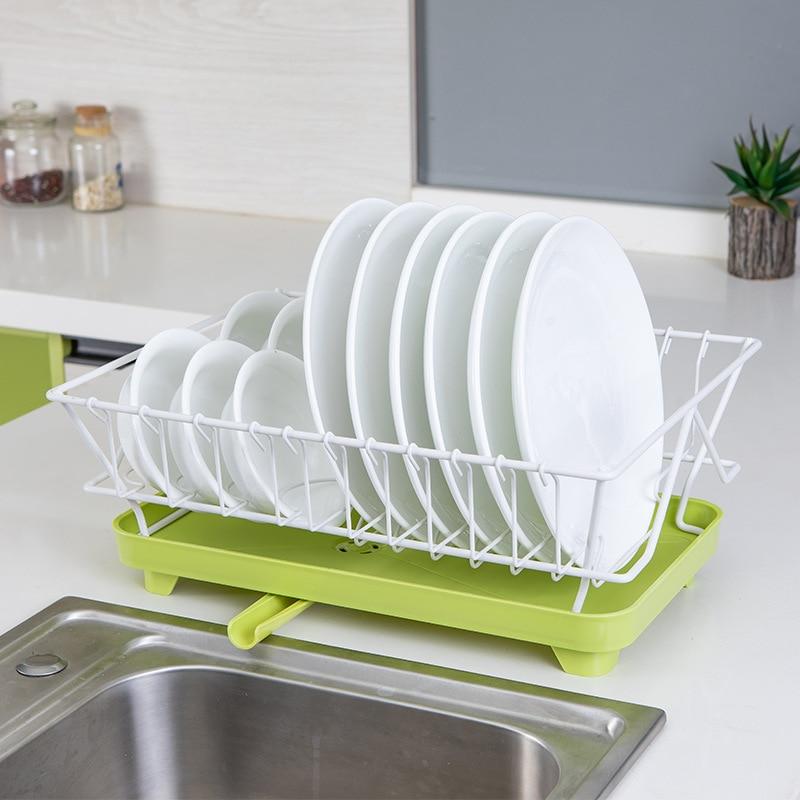 Kitchen Shelf Rack Drying Drain Storage Holders Plate Dish Stainless Steel !