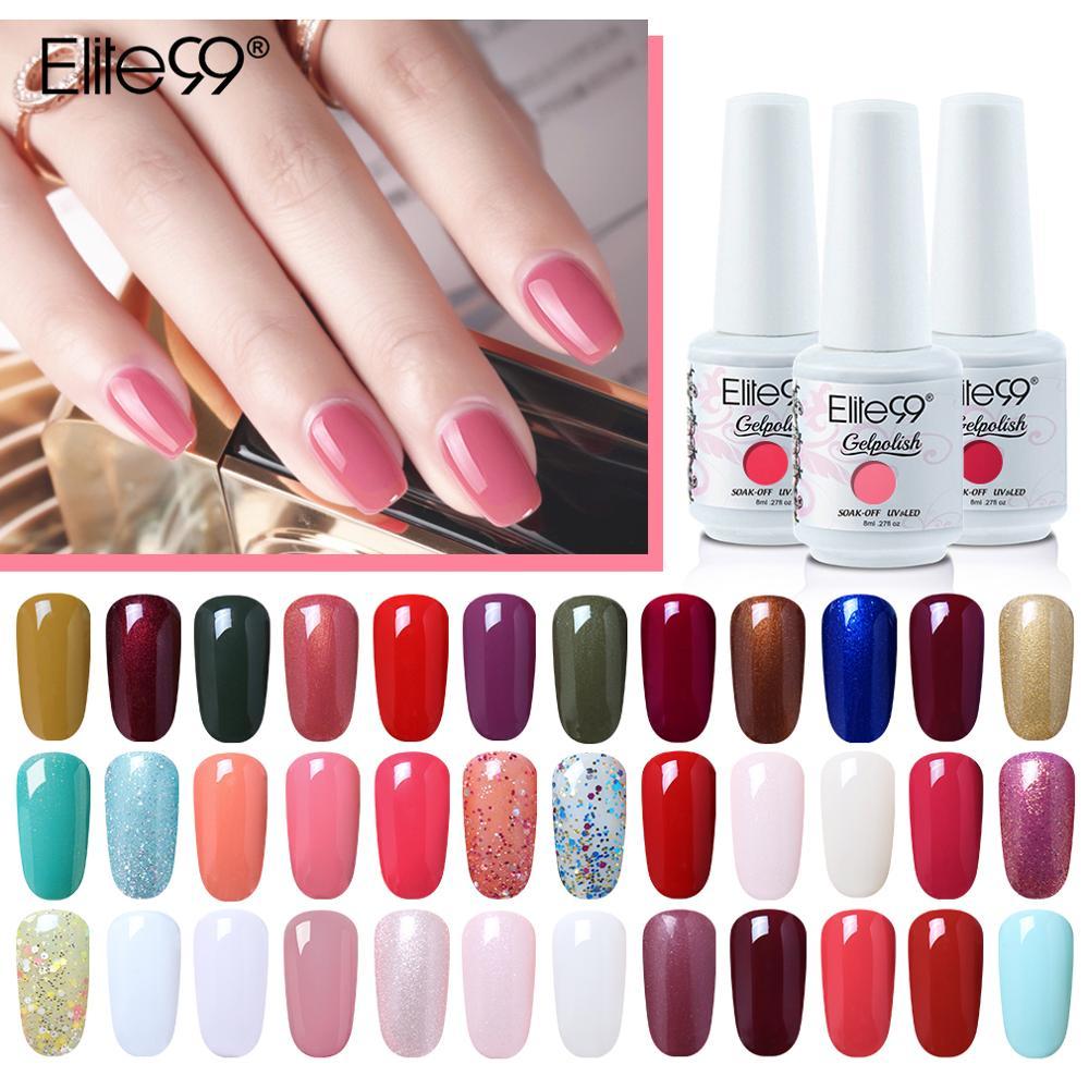 Elite99 8 мл Гель-лак для ногтей цвет красного вина Цвет УФ-гель Лаки био-Гели Soak Off, семиперманентный гель лак для ногтей