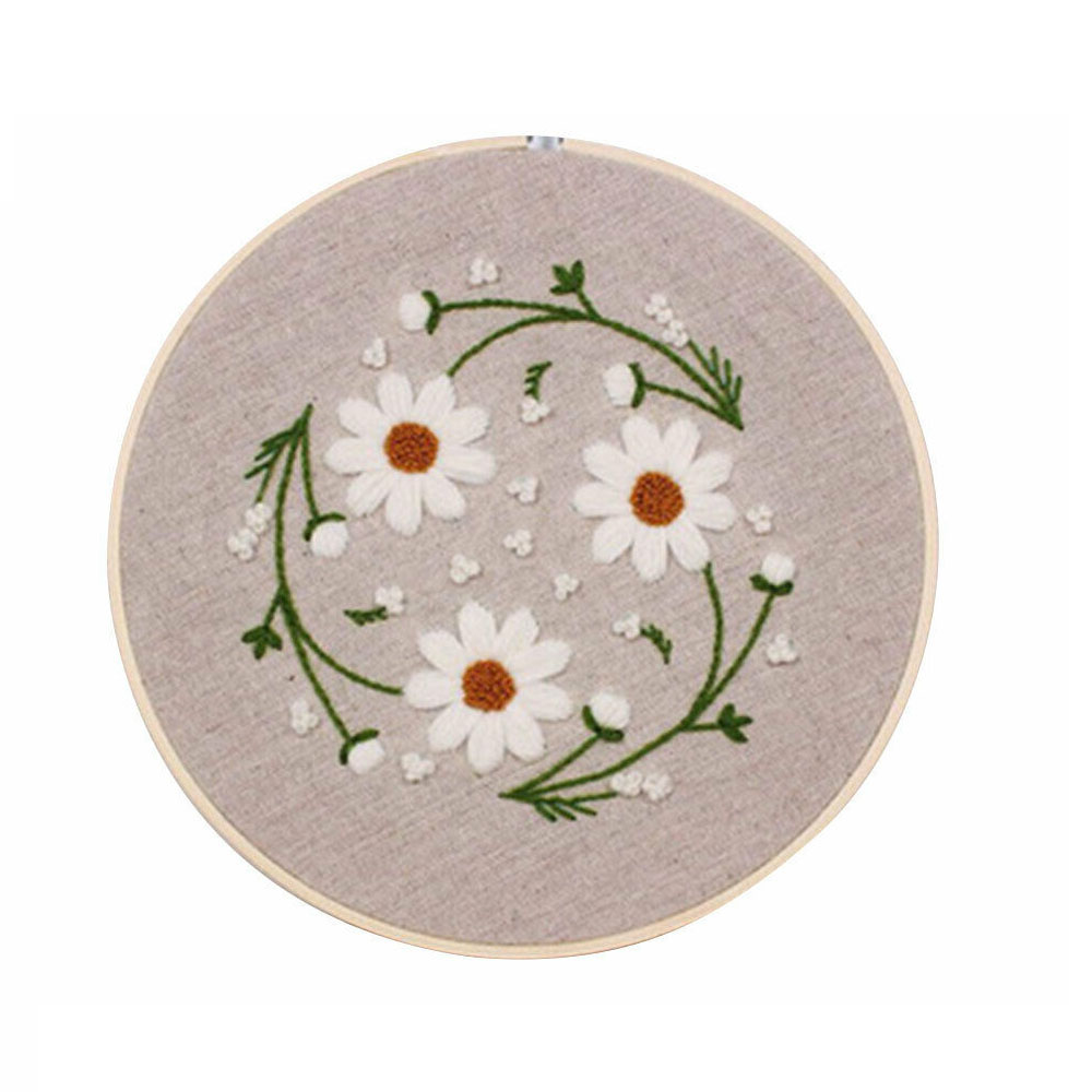 DIY Cross Stitch Kits Ribbon Flowers Embroidery Set Cross Stitch Needlework Arts Crafts Sewing Decoration