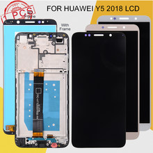 Dinamico Promotie Y5 2018 Display Voor Huawei Y5 Lite 2018 Lcd Met Touch Screen Digitizer Vergadering Y5 Prime 2018 Lcd + Frame(China)