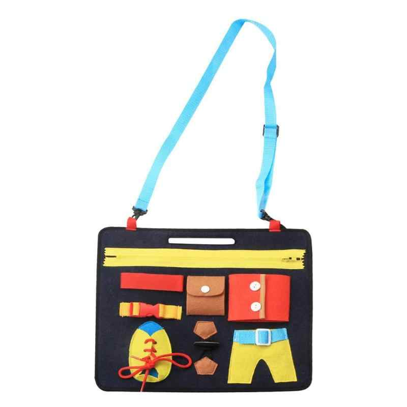Early Education Montessori Toy Simplicity Portable Safety Infant Clothing Learning Button Board Toys Intelligence Development