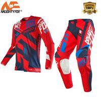 2019 NAUGHTY Fox MX Motocross Suit 360 Divizion Full Set Jersey Pants Combo MX Dirt Bike Off road Racing Gear Set