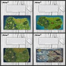 Large size mouse pad PC keyboard gaming mouse pad mouse track ball speed sliding rubber non-slip fortite game map Child washable maiyaca sound system prints mouse pad small size round gaming non skid rubber pad