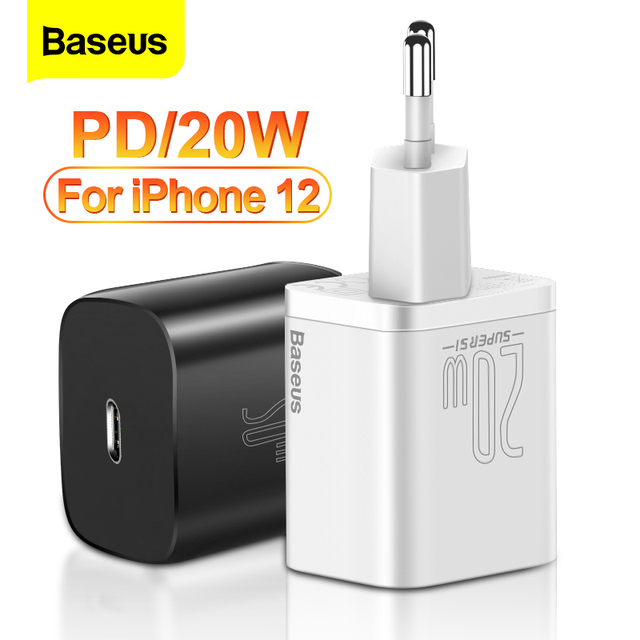 Baseus PD 20W Quick Charge QC3.0 QC USB Type C Fast Charging Charger For iPhone 12 Pro Samsung Xiaomi Wall Mobile Phone Charger 1