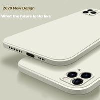 2020 nuova custodia in Silicone liquido di lusso per iPhone 11 Pro Max 12 custodia protettiva per iPhone X XS MAX XR 7 8 6 6S PLUS SE 2020 Cover