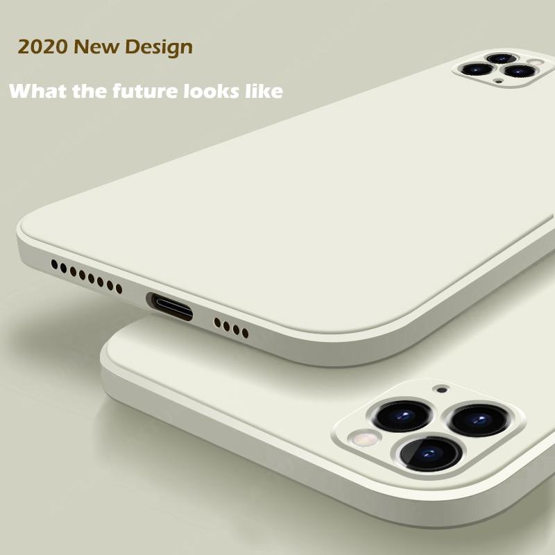 2020 новый роскошный жидкий силиконовый чехол для iPhone 11 Pro Max 12 защитный чехол для iPhone X XS MAX XR 7 8 6 6S PLUS SE 2020