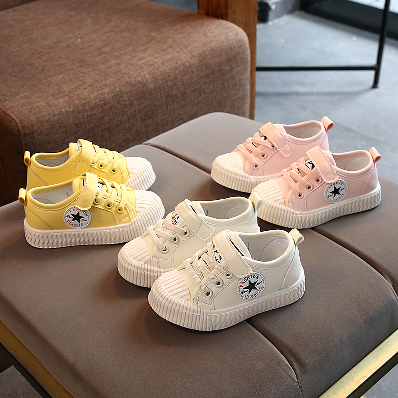 Canvas Candy Color Infant Tennis Cool New European Baby Sneakers Stars Girls Boys Shoes Sports Baby Casual Shoes